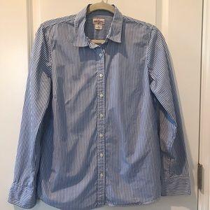J Crew Haberdashery Striped blue and white Shirt